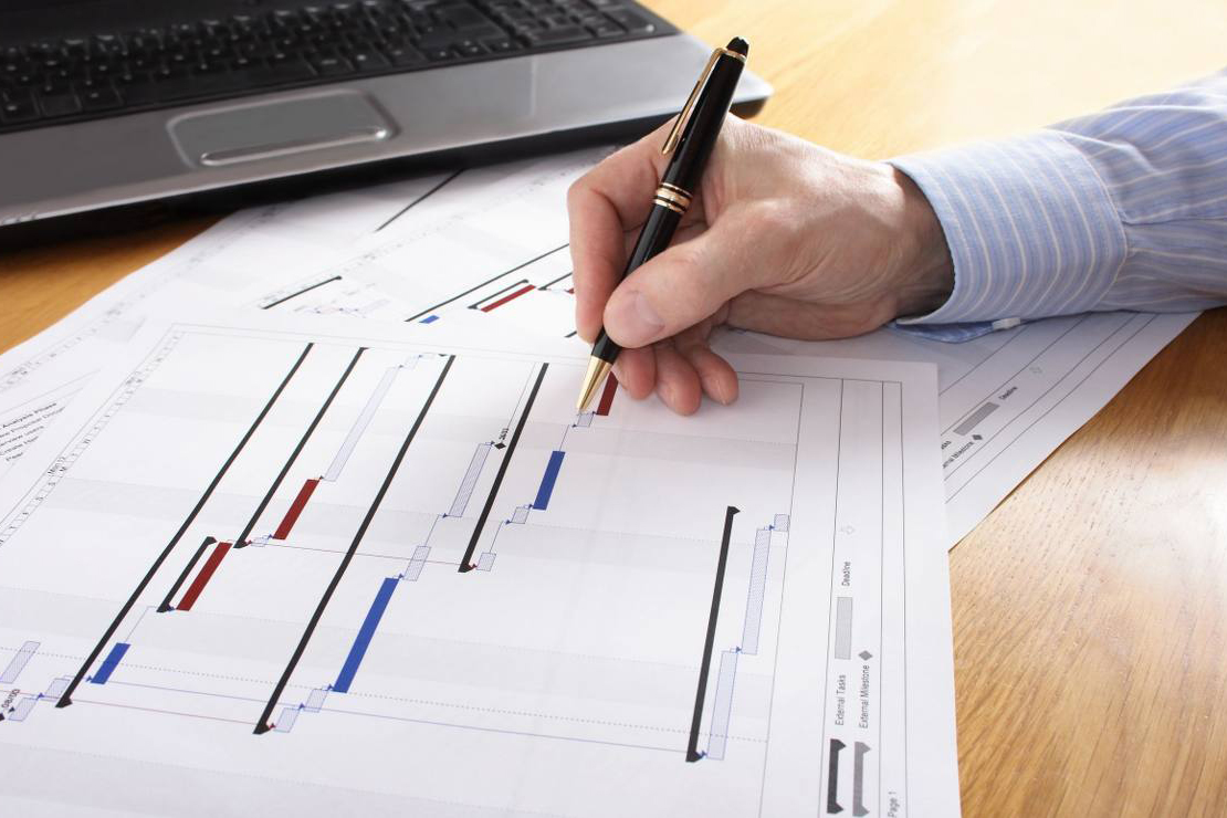 Program management project planning straight line for Project plans
